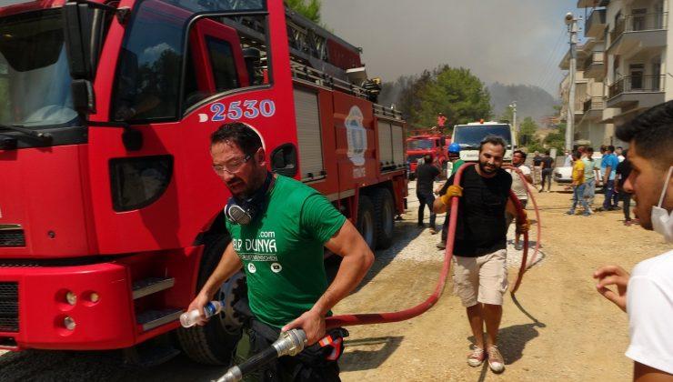 Manavgat'taki yangını söndürmek için seferber oldular