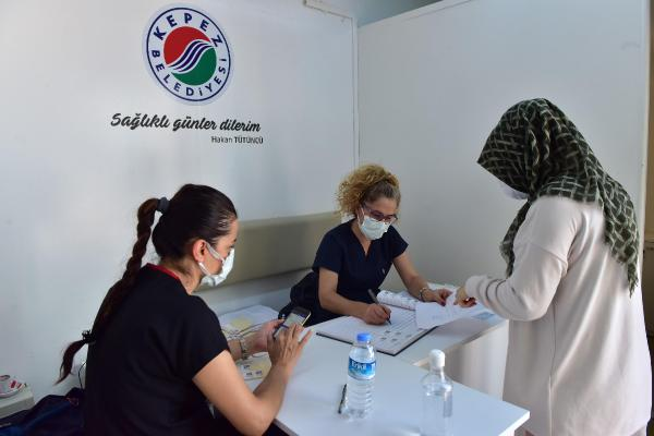 Mobil Aşı Merkezi'nde 1393 kişiye aşı