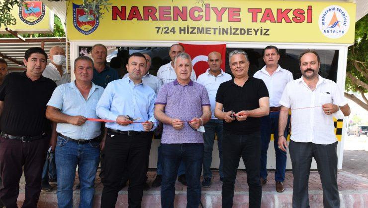 Muratpaşa'da taksi durakları yenileme çalışmaları devam ediyor