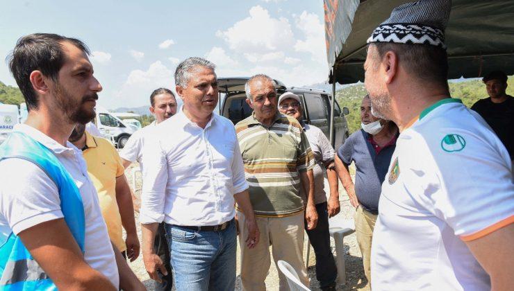 Muratpaşa'dan yangın bölgesine 1 milyon 332 bin liralık maddi destek