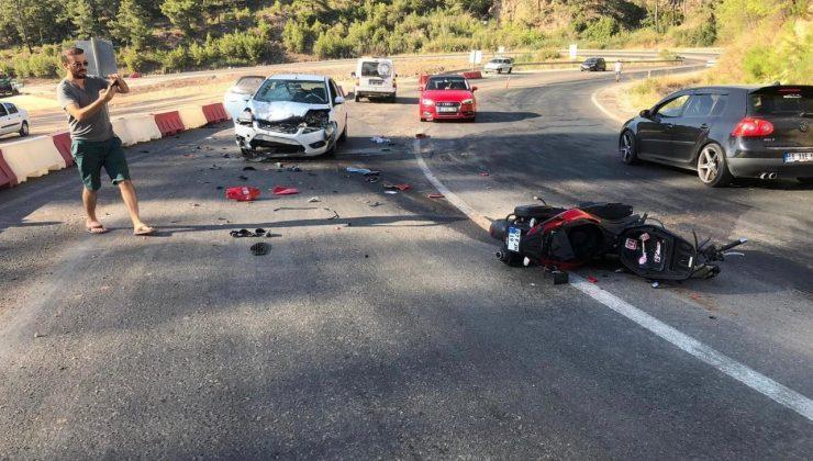 Otomobil ile çarpışan motosikletli hayatını kaybetti