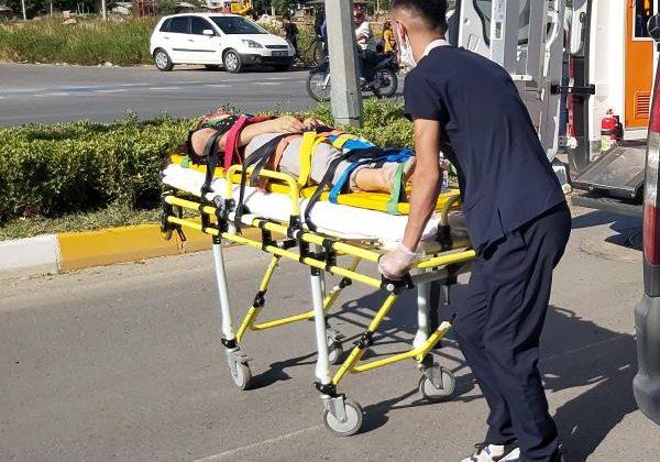 Otomobilin çarptığı Büşra ağır yaralandı