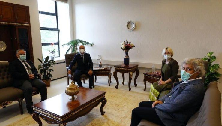 Rektör Özkan, YÖK Başkanı Özvar ile bir araya geldi