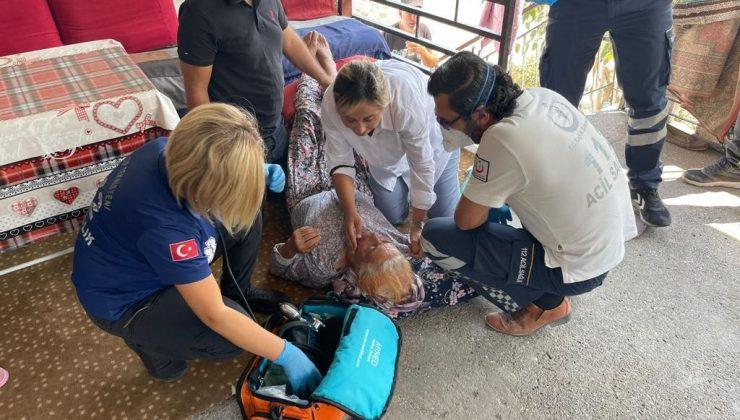 Yangından etkilenip bayılan kadına ilk müdahale doktor milletvekilinden