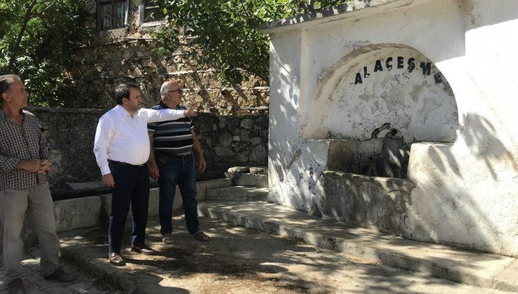 Akseki Belediyesi Alaçeşme Mahallesinde yol ve çevre düzenleme çalışması başlattı