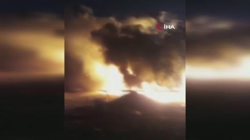 Aksu'da tekne yangını