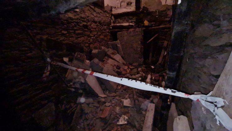 Alanya'da 2 katlı evde göçük: 2 yaralı