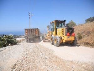 Alanya'da yol yapım çalışmaları