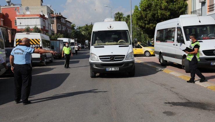 Antalya'da 19 ilçede 2 bin servis aracı denetlenecek