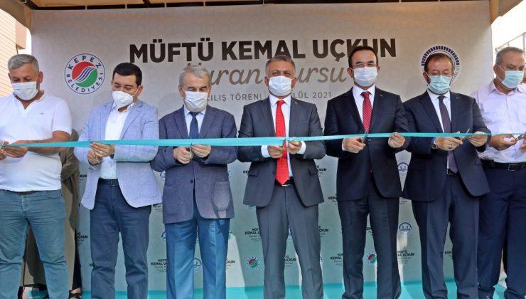 Antalya'da 8 derslikli Kur'an Kursu açıldı