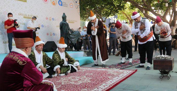 Antalya'da Ahilik kutlamalarında şet kuşanma töreni ilgiyle izlendi