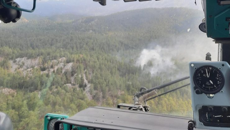 Antalya'da çıkan orman yangını kısa sürede söndürüldü