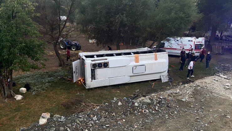 Antalya'da otobüs şarampole devrildi: 1 ölü, 9 yaralı