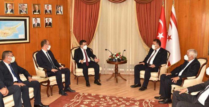 Başkan Tütüncü, KKTC Başbakanı Saner ile bir araya geldi