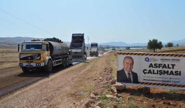 Büyükşehir, Osmankalfalar grup yolunu asfaltladı