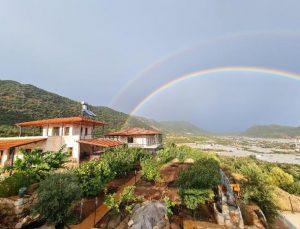Demre'ye 5 ay sonra yağmur yağdı