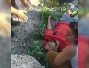 Gelin-damat fotoğrafı çekerken 30 metreden düştü, jandarma uyumaması için böyle çaba gösterdi