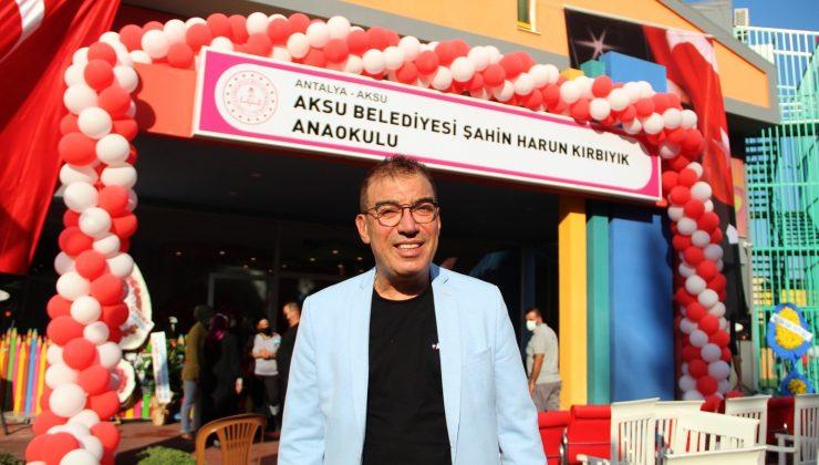 Hayırsever iş adamı Şahin Harun Kırbıyık'ın ismini taşıyan anaokulu açıldı