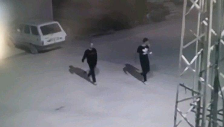 Hırsızlık şüphelileri güvenlik kamerasından tespit edildi
