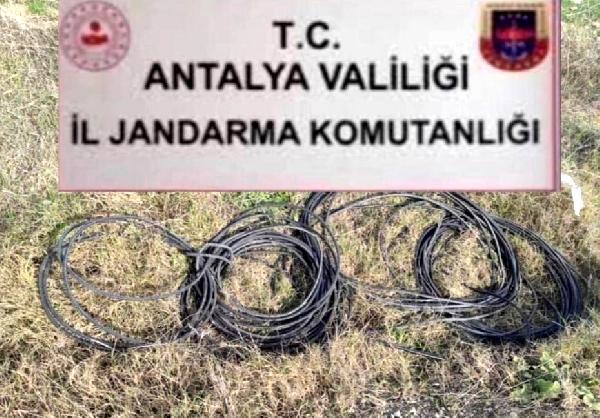 Kablo hırsızları jandarmadan kaçamadı