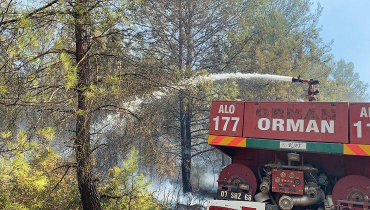 Kaş'taki orman yangını havadan ve karadan yoğun müdahaleyle söndürüldü