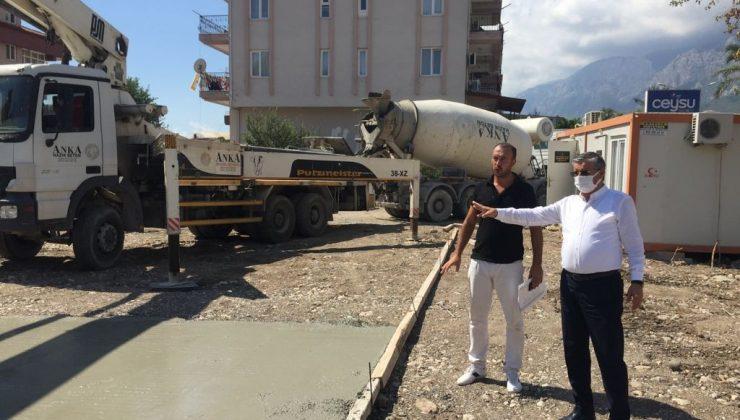 Kemer Arslanbucak'a yapılacak anaokulu 8 ay içerisinde tamamlanacak