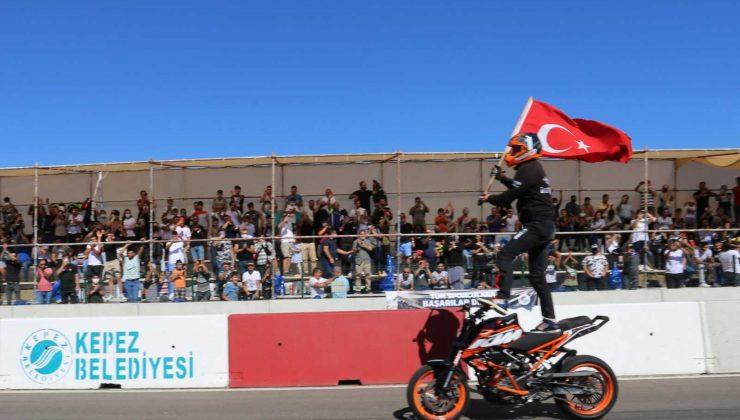 Kepez'de motodrag heyecanı
