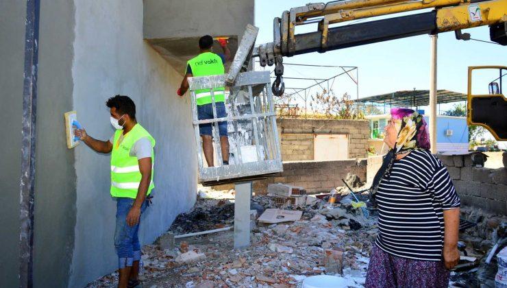 Manavgat'ta hafif hasarlı 398 binadan 160'ı onarıldı
