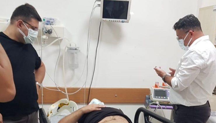 Nöbetten çıkan doktor, eve dönüş yolunda kazada yaralandı