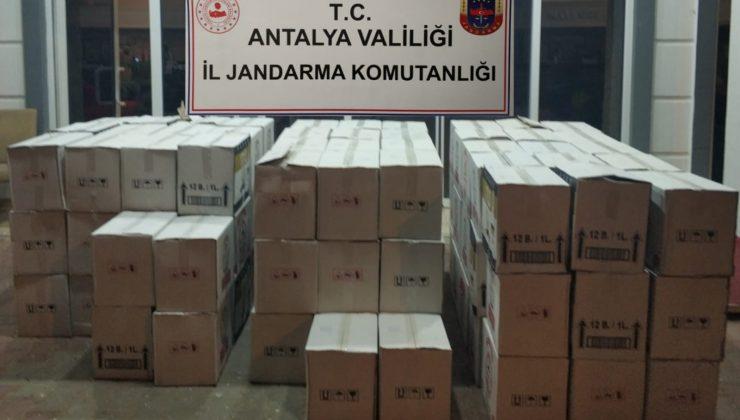 Otel deposunda bin 498 litre kaçak içki ele geçirildi