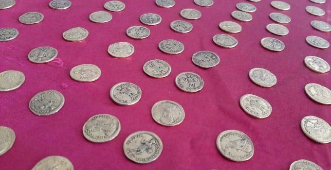 Roma dönemine ait 556 adet sikke ele geçirildi