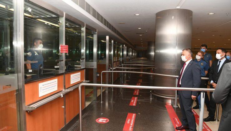Vali Yazıcı yapımı tamamlanan Dış Hatlar-2 Terminali'ni inceledi