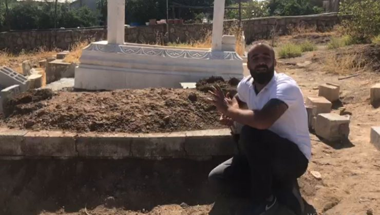 İki otomobilin altında kalan yeğenini defnetti, mezarı başında isyan etti