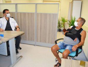 67 yaşındaki hasta, 'omuza doku transferi' ile sağlığına kavuştu