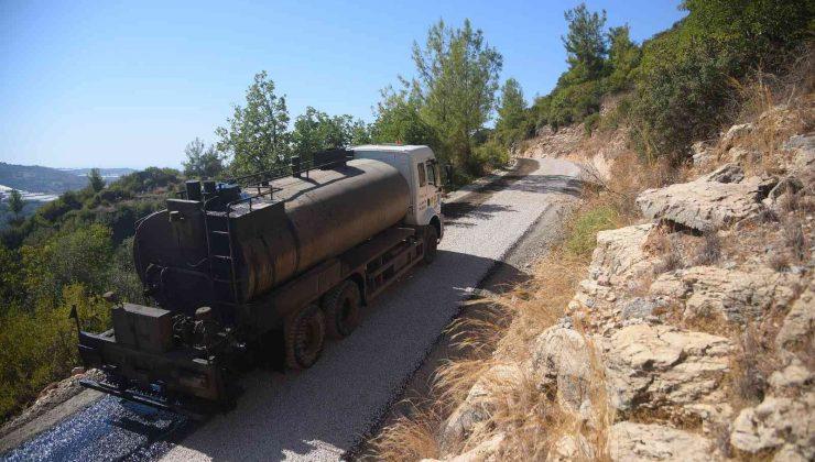 Alanya Belediyesinden iki mahalleye asfalt çalışması