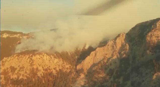 Antalya'daki yangına havadan ve karadan müdahale sürüyor