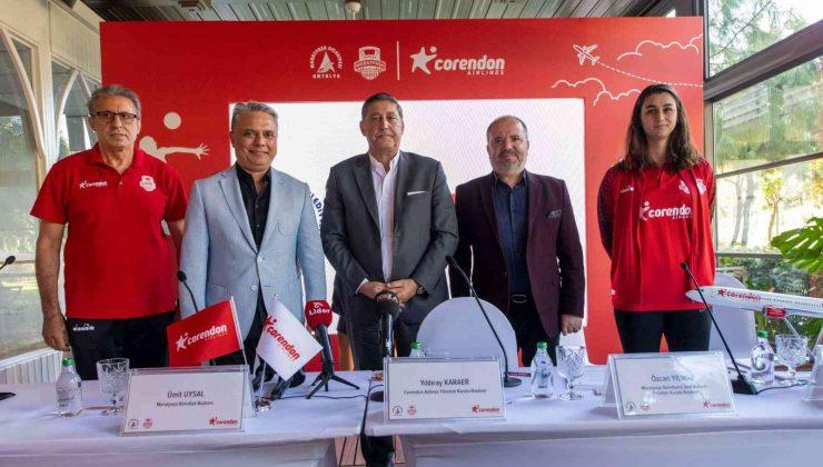 Corendon Aırlines, Muratpaşa Belediyesi Kadın Voleybol Takımı'na sponsor oldu