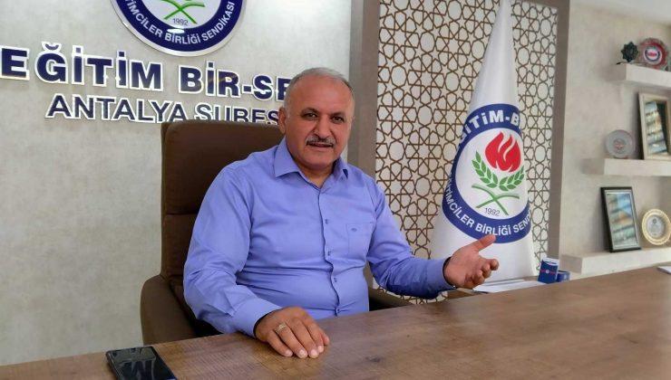 """Eğitim Bir Sen Antalya Şube Başkanı Miran: """"Meslek kanununun ivedilikle yürürlüğe konulması gerekiyor"""""""