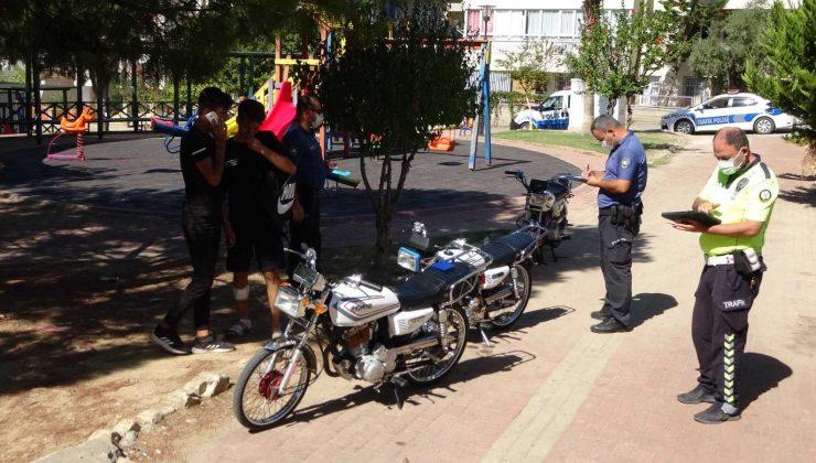 Ehliyetsiz motosiklet sürücüsü gençlerin yedikleri ceza umurlarında olmadı