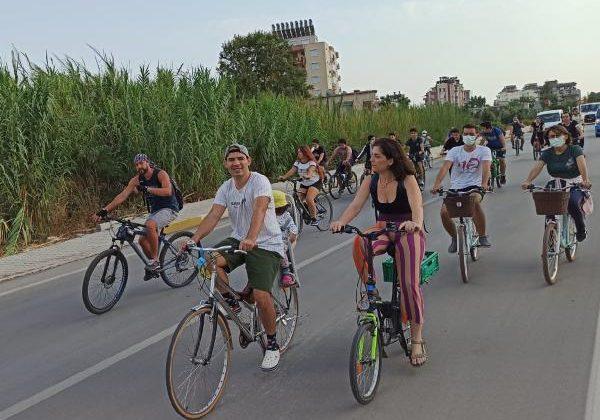 Finike'de bisiklet turu heyecanı