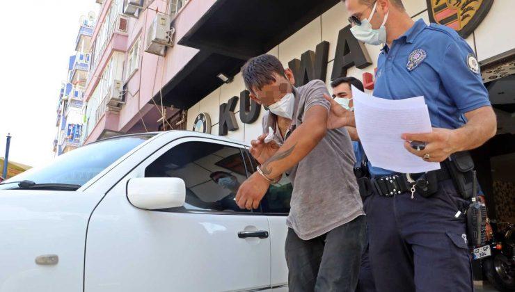 Hırsızlık şüphelisinin gözyaşları gözaltına alınmasına engel olamadı