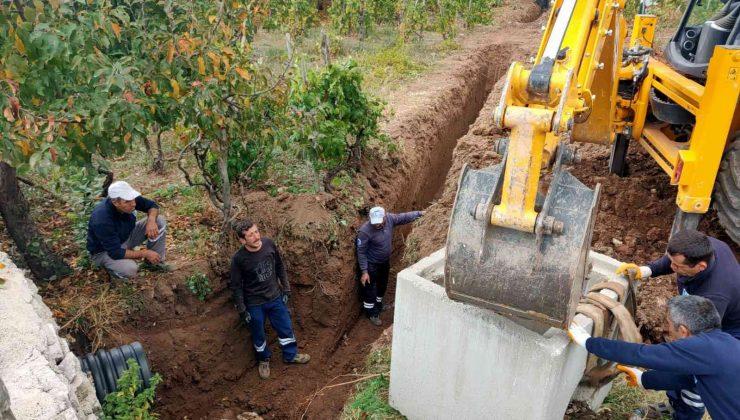 İbradı'da yağmur suyu çalışması
