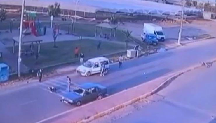İki aracın bisikletli çocuğa arka arkaya çarpıp ölümüne sebep olduğu feci kaza güvenlik kamerasında