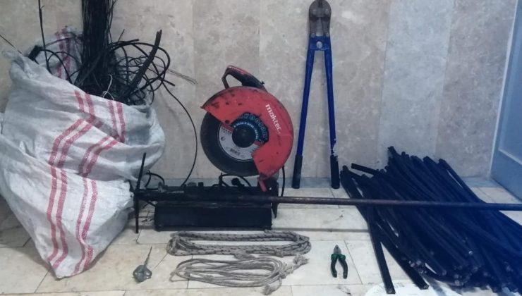 Kablo hırsızı son olayında JASAT timlerinden kaçamadı