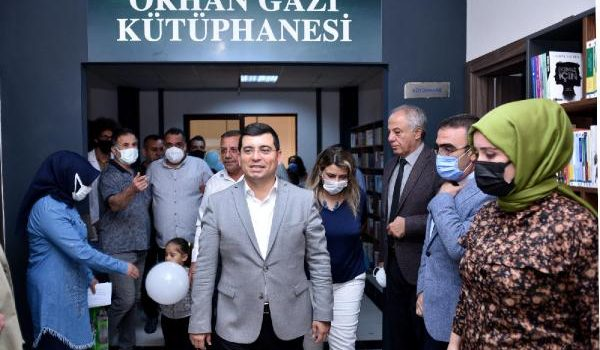 Kepez'in 8'inci kütüphanesi 'Orhan Gazi' açıldı
