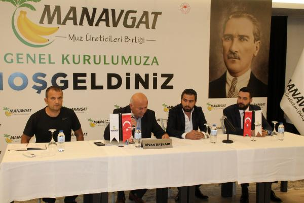 Manavgat Muz Üreticileri Birliği ilk genel kurulunu yaptı