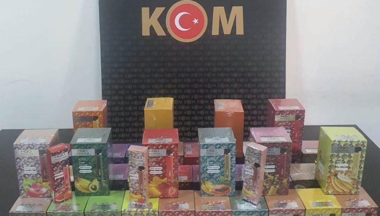 Manavgat'ta 237 adet gümrük kaçağı elektronik sigara ele geçirildi