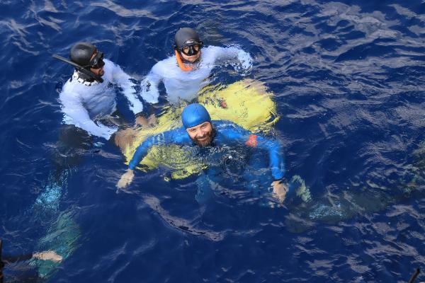 Serbest dalışta bir dünya, bir Türkiye rekoru