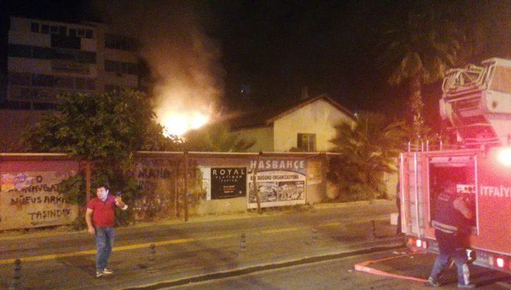 Tarım ilçe müdürlüğü eski binasında korkutan yangın