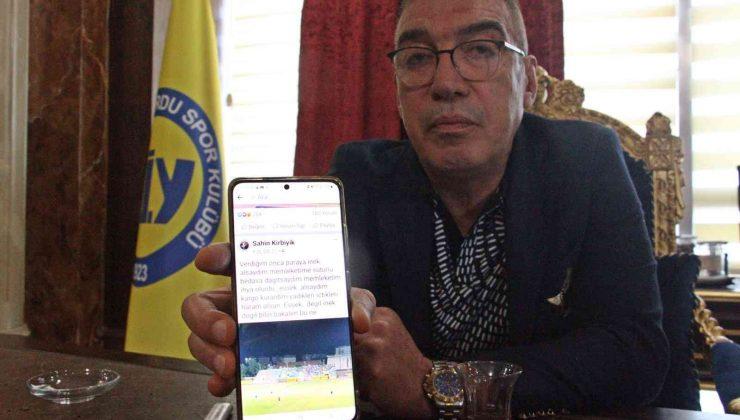 """Tarsus İdman Yurdu Başkanı Şahin Kırbıyık: """"Forması terlemeden sahadan çıkanları gördüm"""""""